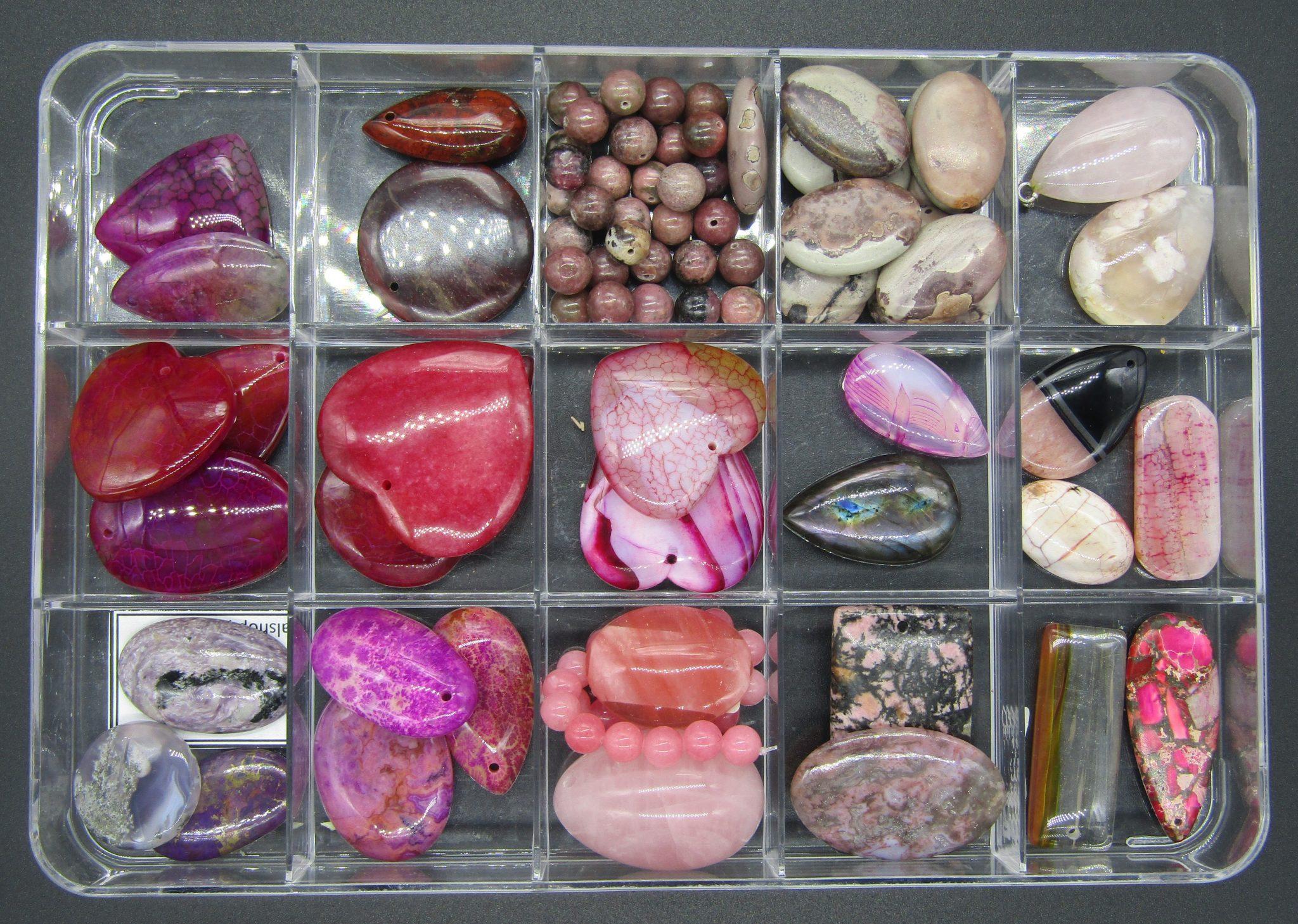 mon addiction- des pierres gemmes-en dégradé de violets et roses