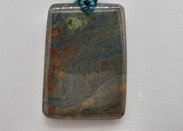 Jaspe feuille d'automne- pierre du collier pour homme 1001