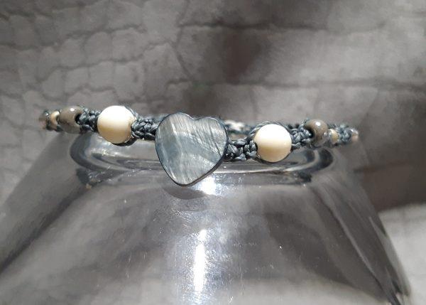 femme-bijou bracelet Mini en gris et blanc