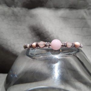 femme, bijou- bracelet mini en rose et gris