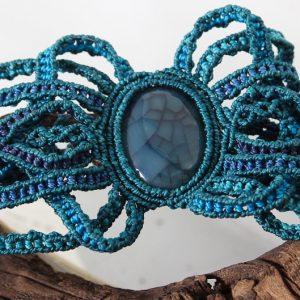 manchette Méduse sur agate bleue