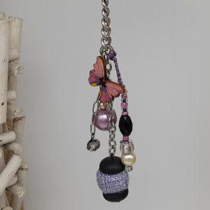 femme-accessoire - bijou de sac Envol rose