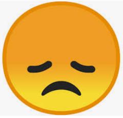 emoji désappointé