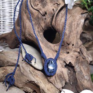 pietersite bleu pour le collier tempête